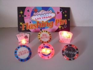Casino Magnetic Flashing Badge